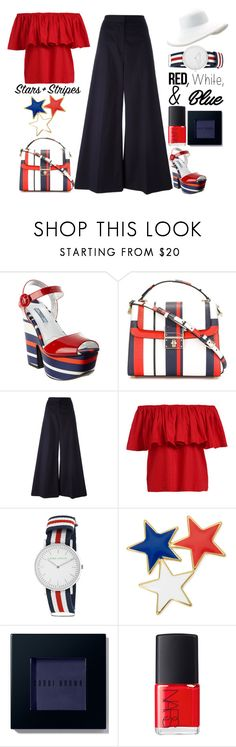 """Stars and Stripes - Top Set 6/30/16"" by juliehalloran ❤ liked on Polyvore featuring Prada, Dolce&Gabbana, STELLA McCARTNEY, Laura Ashley, Liz Claiborne, Bobbi Brown Cosmetics, NARS Cosmetics, Eric Javits, redwhiteandblue and july4th"