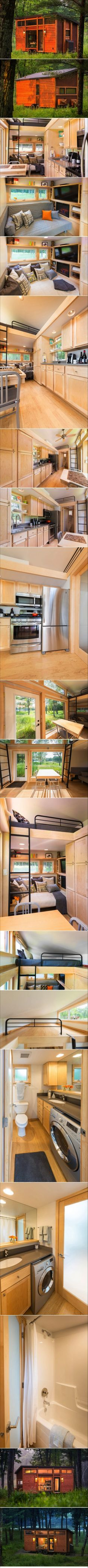 I love the movie/tv area on this! First time it actually looks comfy to lounge around in a tiny house