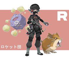 Pokemon Rearmed Team Rocket Grunt by TheGraffitiSoul on DeviantArt Pokemon Comics, Pokemon Memes, Cute Pokemon, Pokemon Team, Pokemon Cards, Pokemon Fusion, Team Rocket Grunt, Pokemon Rouge, Deviantart Pokemon