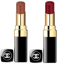 Chanel Les Automnales Fall 2015 Collection - Chanel Rouge Coco Shine •99 Missing – brown •112 Courage- cherry red