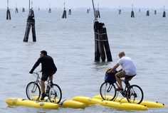 Bicycles on water. Yep definitely want to do this!