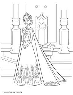 Meet Elsa, the beautiful and powerful Snow Queen. She is a character from the upcoming Disney Frozen movie. Print out and have fun with this free coloring page!