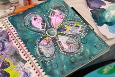Beautiful inspiration.  Behind the scenes photographs from the video shoot that took place at Art Journaling LIVE 2013.