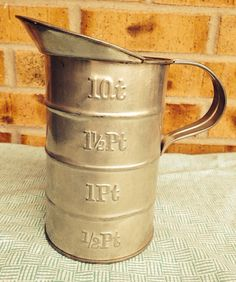 Awesome Mid-Century Metal 1 Qt Measuring Cup   on Etsy, $12.95