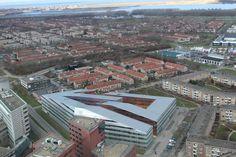 Carlton toren van boven met La Defense, Almere Stad