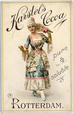Karstel's Cocoa vintage ad……re pinned by Maurie Daboux ╰☆╮
