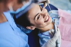 Beautiful young lady receiving teeth cleaning and polishing at clinic - Comprar esta foto e explorar imagens semelhantes no Adobe Stock Family Dental Care, Dental Group, Close Up, Invisible Braces, Dental Fillings, Facial, Porcelain Veneers, Beautiful Young Lady, Cosmetic Dentistry