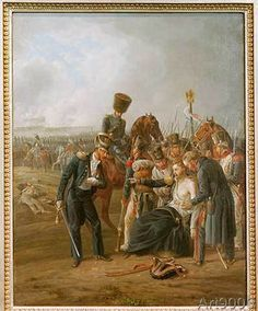 Albrecht Adam - The wounded General Jean Rapp in the battle of Borodino