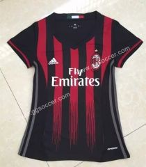 aab5313cd1ef AC Milan Home Red and Black FemaleThailand Soccer Jersey-AC Milan
