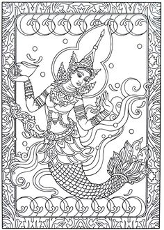 16 Best India And Thailand Culture Coloring Book Pages Images