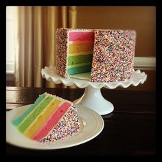 Rainbow on Cake Central could also do their favorite color inside