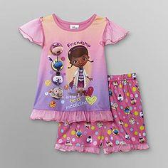 Disney Baby- -Doc McStuffins Toddler Girl's Knit Pajama Set