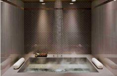 Rain Shower Bathroom, Brown Bathroom, Shower Tub, Modern Bathroom, Master Shower, Chic Bathrooms, Contemporary Bathrooms, Bathroom Vanities, Master Bathroom