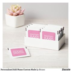 Personalized Add Name Custom Made Hand Sanitizer Packet Personalized Products, Customized Gifts, Wedding Hands, 4th Of July Party, Reveal Parties, Hand Sanitizer, Coral Pink, Gender Reveal, Wedding Details
