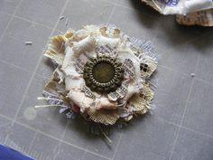 Vintage Follie: Tattered Floral Cinderella Slipper
