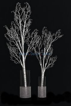 Bendable Artificial Manzanita Branches - Silver - Large - Event Decor Direct - North America's