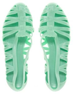 Asos JuJu Vicky Mint Cut Out Flat Shoes - only 9 euros!!!!!!