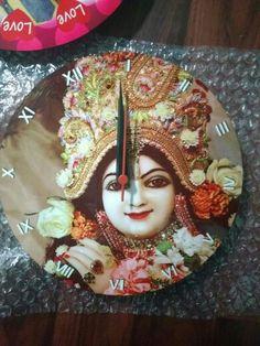 Round Krishna Wall Clock.