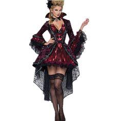 Cool 2016 New Halloween Costumes For Women Vampires Vixen Costume LC8922 Deguisement Adulte Sexy Fantasias Femininas Halloween Menina