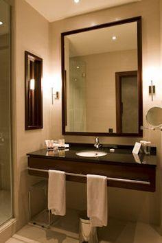 Elegant Hotel Or Apartment Bathroom Stock Image - Image of apartment, glass: 8079913 Hotel Bathroom Design, Bathroom Design Small, Modern Bathroom, Master Bathroom, Small Bathrooms, Bathroom Ideas, Bath Ideas, Bathroom Designs, Bathroom Inspiration