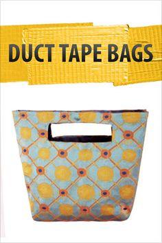 Como hacer una bolso de tela sin dar una puntada ;) Duct Tape No-Sew Tote
