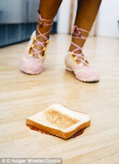 Across the board, toast was the food least likely to pick up bacteria from any of the flooring types but only if it was dry