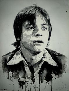 Yes, I need a better scanner. Photoshop or GIMP doesn't help so much.) (Original: ca 30 x 42 cm, watercolor on paper) Mark Hamill Mark Hamill, Photoshop, A3, Drawings, Sketches, Draw, Drawing, Pictures, Paintings