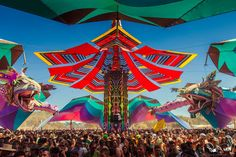 The Rainbow Serpent Festival is a large electronic music, art and lifestyle festival, located in Victoria, Australia. The festival is mainly known for Psychedelic trance and Minimal Techno music, but also features other genres of electronic music and non electronic music in the smaller stages. http://psytraveller.net/rainbow-serpent/