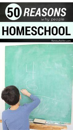 50 Reasons People Choose to Homeschool