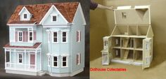 Country Victorian dollhouse.  In the box waiting to be built.
