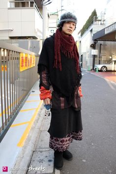 Wearing layers of Toko — via Japanese Streets