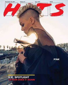 "nk on the cover of the magazine ""HITS"" Pixie Hairstyles, Trendy Hairstyles, Short Haircuts, Pink Haircut, Female Mohawk, Alecia Moore, Shaved Hair, Beth Moore, Hair Today"