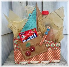 gift basket in a drink box
