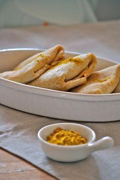 Pacchettini di crepes con fondue di porri