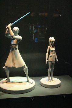 Star Wars Identities Tour - Montreal - Anakin and Ahsoka maquettes