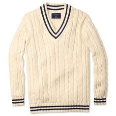 Cream cricket sweater