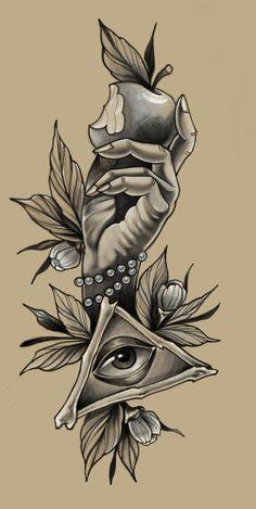 эскиз тату Forearm Tattoo Design, Design Tattoo, Forearm Tattoos, Body Art Tattoos, Sleeve Tattoos, Dark Tattoo, Grey Tattoo, Color Tattoo, Tattoo Sketches