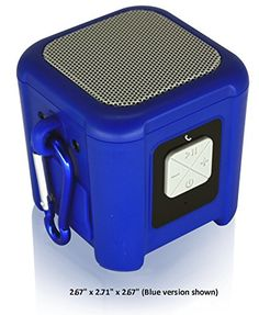 Special Offers - Riptide Outdoor Waterproof Bluetooth Speaker with Carabiner Loop (Blue) - In stock & Free Shipping. You can save more money! Check It (April 03 2016 at 03:39PM) >> http://eheadphoneusa.net/riptide-outdoor-waterproof-bluetooth-speaker-with-carabiner-loop-blue/