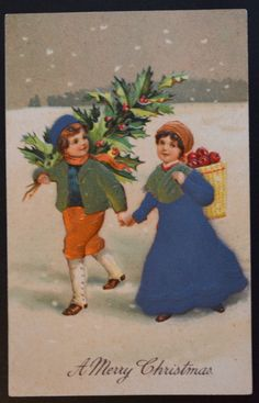 #Christmas #Postcard, #Christmas Children, #Christmas #Ephemera, Antique #Christmas ,  View more on the LINK: http://www.zeppy.io/product/gb/3/253864142/