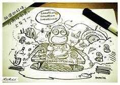 哈比想要开间店,可是地点。。。(再美味的食物都会臭掉~)¯(°_°)/¯  #哈比族 #插画 #Tikii #开店 #地点问题 [Hapii: 所谓的好味,反而反倒胃。上车了~]