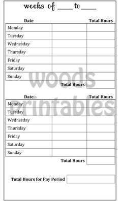 Daily schedule for a specific driver, with room for customer names ...