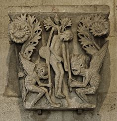 Gislebertus. Suicide of Judas. Nave capital. Autumn Cathedral. ca. 1125.