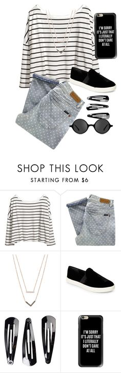 """""""🖤"""" by ecarri on Polyvore featuring H&M, Paul by Paul Smith, Michael Kors, Vince, NLY Accessories, Casetify and Muse"""