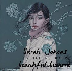 @sarah_joncas has a style that is so easily recognised! Her mysterious and stunning women are almost cinematic . They are full of intense emotion and the narrative is often centred around nature. Sarah's work is often created to reflect her own thoughts feelings and narrative about the world. There is no lack of empathy in her incredible pieces they reflect an impressive view of life and an almost romantic and serene feel. I adore her works! Each piece speaks of something intensely…
