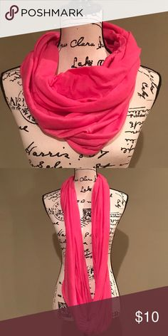 Hot Pink Scarf Hot Pink, Cotton Scarf.  In excellent condition. Accessories Scarves & Wraps