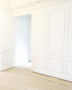 Can't wait to see it all painted! Entryway Wall Decor, Apartment Entryway, Entryway Ideas, Wall Molding, Moulding, Molding Ideas, Crown Molding, Wainscoting Styles, Wainscoting Bedroom