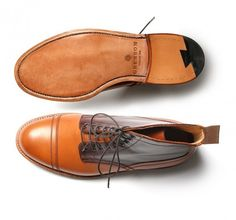 Grenson x Heritage Research cap toe Boot tan mahogany