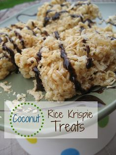 Pincushion Creations: {Coconut} Rice Krispie Treats