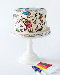 Scribble Cake | Tessa's Bakery