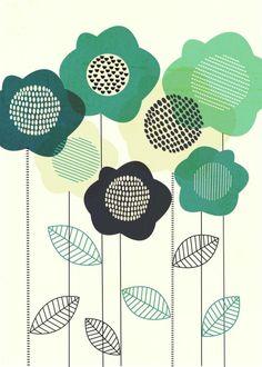 Leading Illustration & Publishing Agency based in London, New York & Marbella. Botanical Illustration, Floral Illustrations, Plakat Design, Scandinavian Folk Art, Hand Painted Ceramics, Ceramic Painting, Abstract Pattern, Graphic, Painting Inspiration